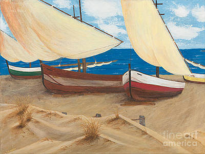 Painting - Baja Beach Dunes by L J Oakes