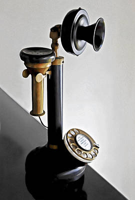 Bakelite Candlestick Analogue Telephone Art Print by Kantilal Patel