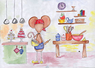 Bakery Mouse Art Print by Sarah LoCascio