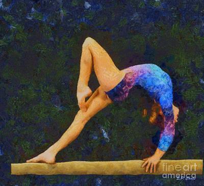 Balance Beam Art Print by Elizabeth Coats