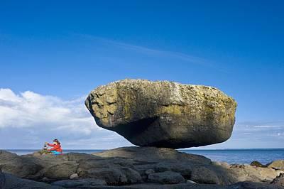 Balance Rock, British Columbia Art Print by David Nunuk