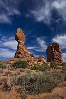Cloudscape Photograph - Balanced Rock by Andrew Soundarajan