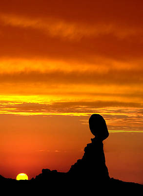 Photograph - Balanced Rock Sunset by Susan Candelario