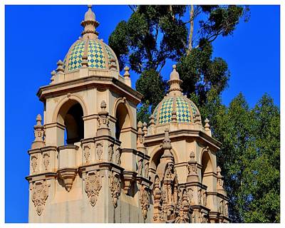 Photograph - Balboa Park Belfries by Frank Wickham