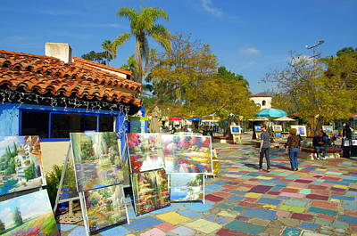 Photograph - Balboa Park Spanish Village Art Center by Jeff Lowe