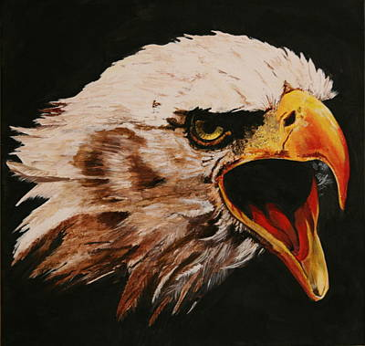 Painting - Bald Eagle by Betty-Anne McDonald