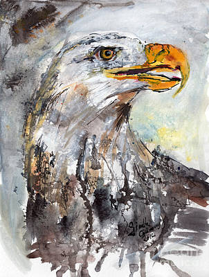 Eagle Painting - Bald Eagle by Ginette Callaway