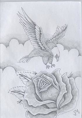 Bald Eagle Pencil Drawing Drawing - Bald Eagle by Justin Murdock