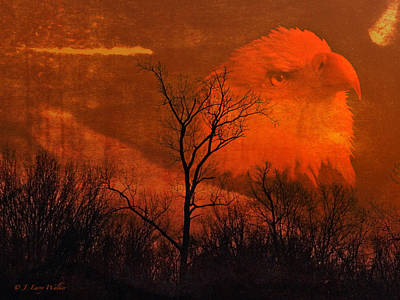 Digital Art - Bald Eagle Of The Cosmos by J Larry Walker
