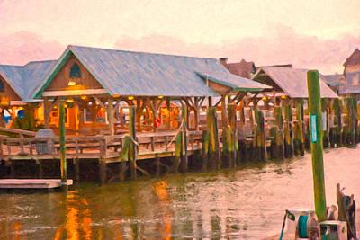 Deck Digital Art - Bald Head Island Marina by Betsy Knapp