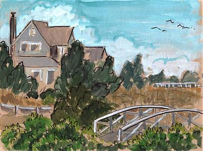 North Sea Painting - Bald Head Island North Carolina by Ethel Vrana