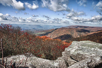 Photograph - Bald Knob Overlook Near Mountain Lake by James Woody