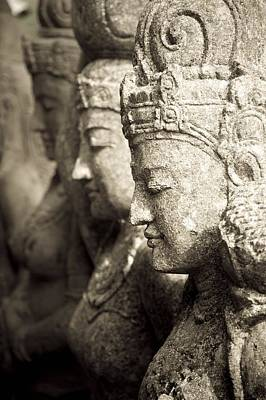 Bali, Indonesia, Asia Stone Statues Art Print by Keith Levit
