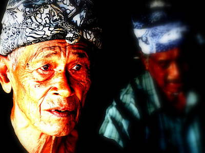 Balinese Old Man Art Print by Funkpix Photo Hunter