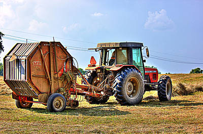 Photograph - Baling Hay by Barry Jones