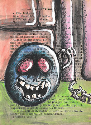 Ball And Chain Print by Jera Sky