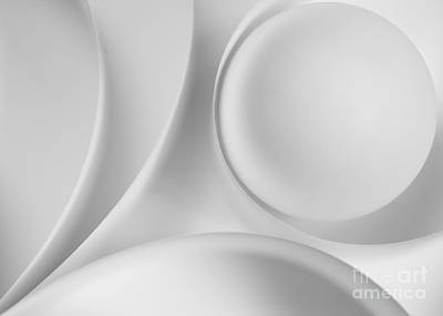 Gradient Photograph - Ball And Curves 09 by Nailia Schwarz