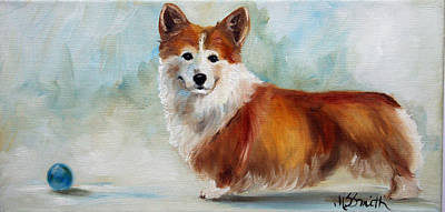 Pet Painting - Ball by Mary Sparrow