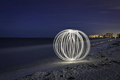 Photograph - Ball Of Light Marco Island Beach by Rich Franco