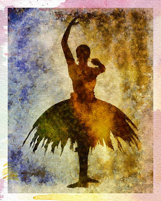 Ballerina 1 With Border Art Print
