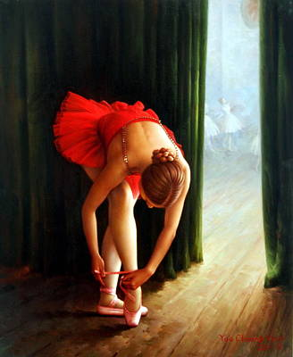 Korea Painting - Ballerina 2 by Yoo Choong Yeul