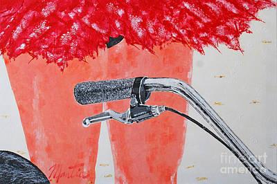 Painting - Ballerina Beach Bike Rider by Art Mantia