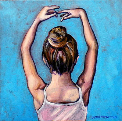 Wall Art - Painting - Ballerina by Clayton Singleton