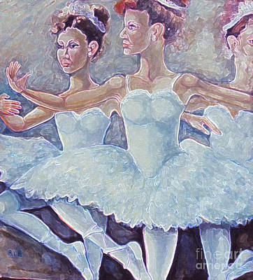 Art Print featuring the painting Ballerina Dance by Rita Brown