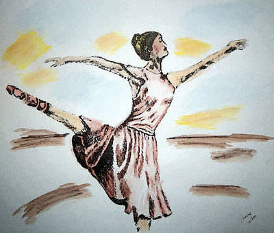 Painting - Ballerina by Shelley Bain