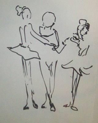 Ballet In The Park Art Print by James Christiansen