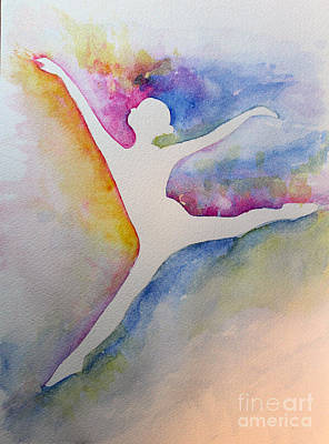 Ballet Leap 1 Art Print by Carolyn Weir