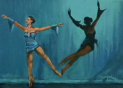 Ballet Painting - Ballet Leap by Tom Shropshire