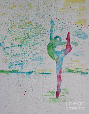 Ballet Pointe 2 Art Print by Carolyn Weir