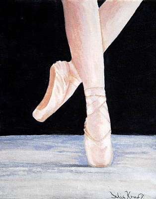 Ballet Shoes Art Print by Julie Kraft