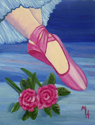 Painting - Ballet Toe Shoes For Madison by Margaret Harmon