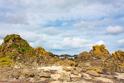 Photograph - Ballintoy Bay Basalt Rock by Semmick Photo
