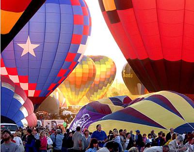 Photograph - Ballon Launch by Ernie Claudio