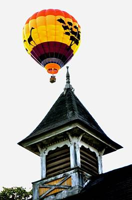 Art Print featuring the photograph Balloon By The Steeple by Rick Frost