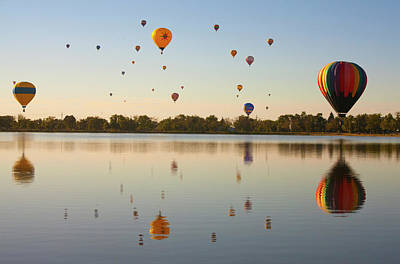 Colorado Springs Photograph - Balloon Festival by Lightvision, LLC