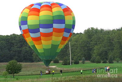 Photograph - Balloon Landing by Christina A Pacillo