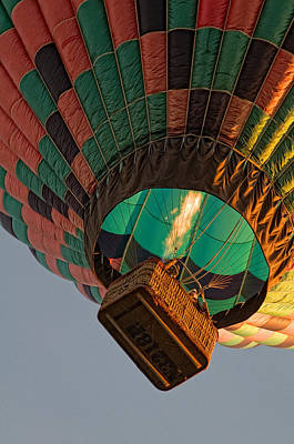 Photograph - Balloon Over Napa Valley by Gary Rose
