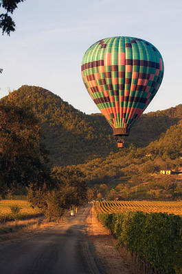 Photograph - Balloon Over Yountville by Gary Rose