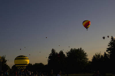 Photograph - Balloons - Montgolfiere by Michel Legare