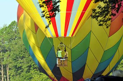 Photograph - Balloons Descending by Helen Haw