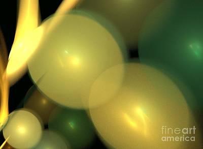 Kim Digital Art - Balloons by Kim Sy Ok