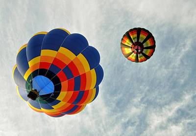 Art Print featuring the photograph Balloons On The Rise by Rick Frost