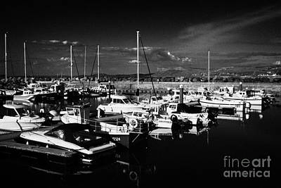 Ballycastle Harbour And Marina With Fair Head In The Background County Antrim Northern Ireland Art Print by Joe Fox