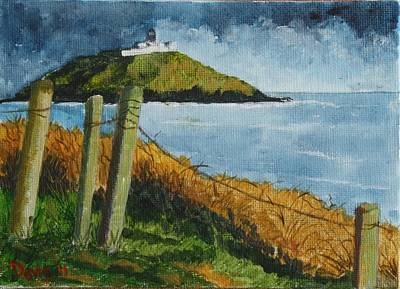 Painting - Ballycotton Lighthouse by Phil Davis