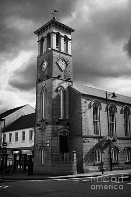 Ballymoney Town Clock Tower And Masonic Hall County Antrim Northern Ireland Art Print by Joe Fox
