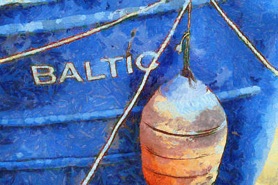 Digital Art - Baltic Buoy. by Clare Bambers